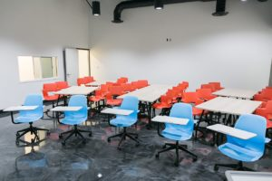 Our integrated school model includes two classrooms on-site: the Collaboration Room and the Focus Room. These rooms are utilized by our teachers and student-athletes for the educational component of their day. Classrooms are available for lectures, seminars and full audio/video film review.