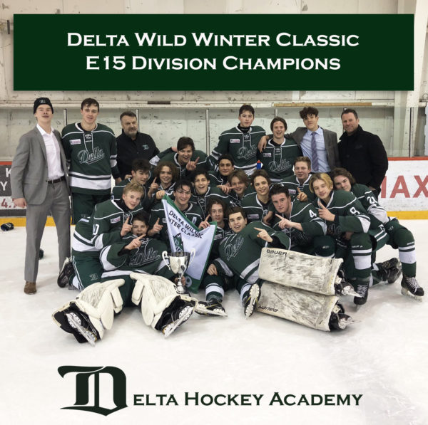 Congrats to our E15 boys for winning the Delta Wild Midget Winter Classic in the Elite 15 Division!